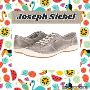 Joseph Seibel Silver Leather Sneakers Size 40